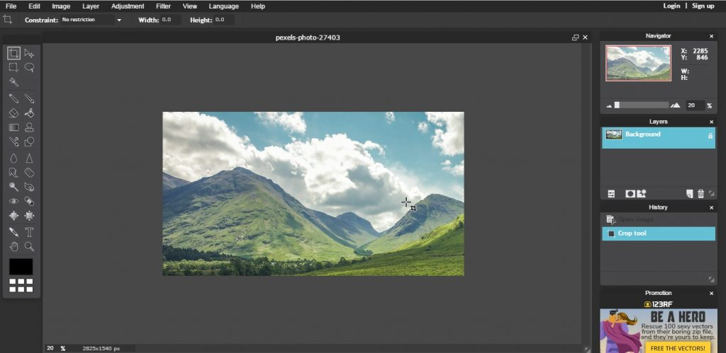 How To Resize Images For Your Website With Pixlr Online Image